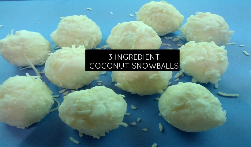 Junior Chefs Make 3 Ingredient Coconut Snowballs