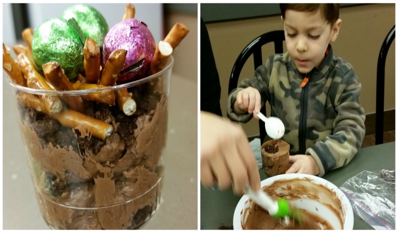 Junior Chefs make Chocolate Pudding Dirt Cups